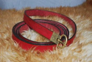 ceinture boucle en bronze bordeaux