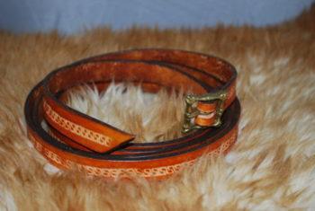 ceinture boucle en bronze tan