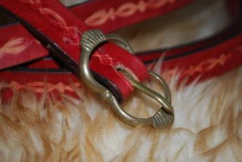 ceinture boucle en bronze cerise