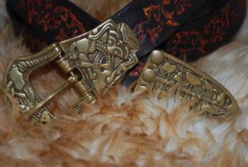 ceinture boucle en bronze noir