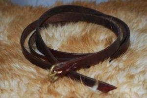 ceinture boucle en bronze chocolat