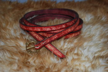 ceinture boucle en bronze havane