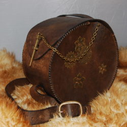 sac a main rond vintage
